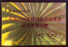 誉美灯饰-2009年度最受消费者欢迎品牌